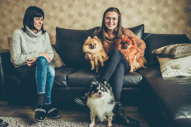 Caro en Myriam met hun honden
