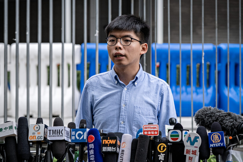 Joshua Wong in October 2019
