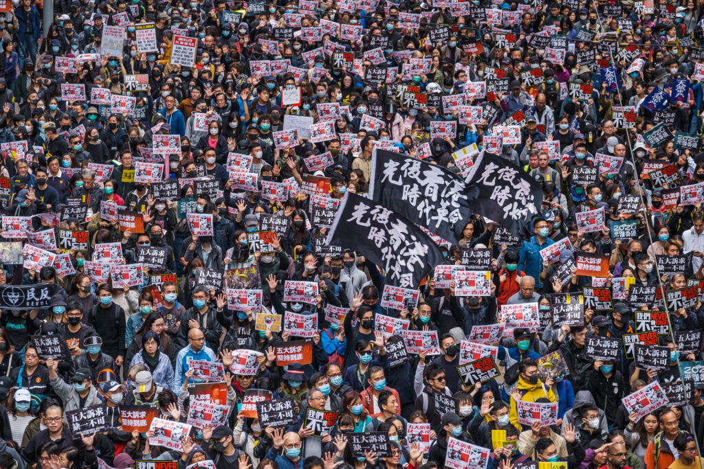 Thousands protest in Hong Kong against new law