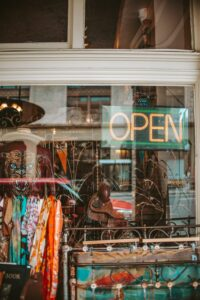 Vintage Shopping Window by Allison Christine from Unsplash
