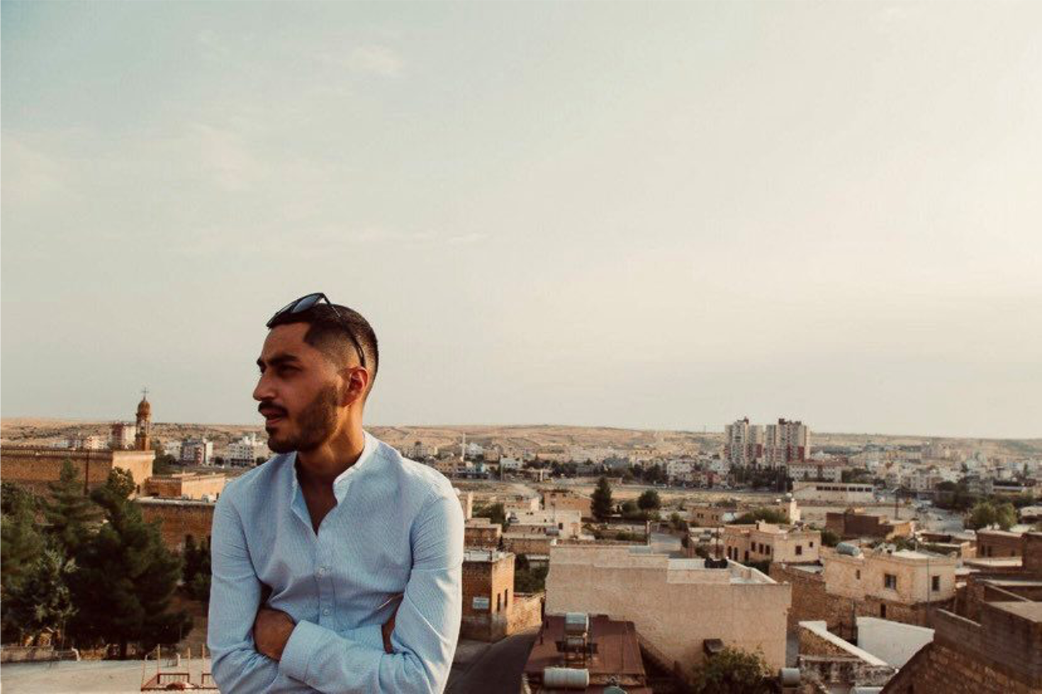 © Louis Delbarre: Alexandro in Midyat, Turkey, at the beginning of his trip